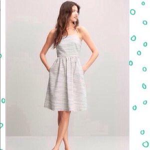 Banana Republic Strapless Linen Dress